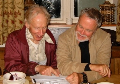 Bill Waterhouse and the author, examining recent additions to this repertoire. Sevenhampton, Gloustershire, September 2007.